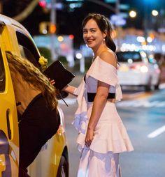 Dakota leaving NYFF last night Cr @LofeDJohnson Twitter