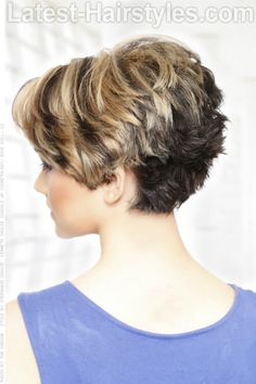 Cute Choppy Hairstyle with Texture Back
