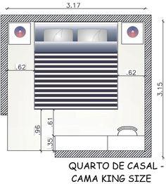 Fernanda cavalcante medidas b sicas quarto de casal for Cama queen dimensiones