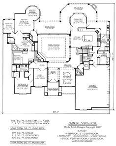 2 story 4 bedroom 56 bathroom 1 breakfest 1 dining room - Family Room Floor Plan