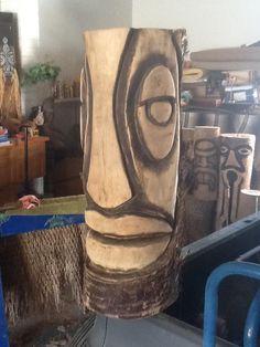 Tiki Totem, Tiki Tiki, Chainsaw Carvings, Wood Carvings, Wood Rat, Tiki Faces, Tiki Head, Tiki Lounge, Tiki Mask