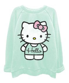 Look what I found on #zulily! Mint Hello Kitty Washed Top - Juniors #zulilyfinds