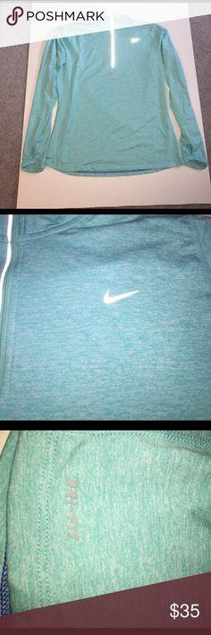 Nike Dri-Fit Running Shirt Never Worn - Nike Dri-Fit Running Long Sleeve Shirt.  Sea Foam Green.  Size Large.  Comes from a smoke free/pet free home. Nike Tops Tees - Long Sleeve