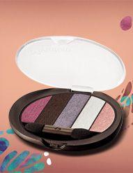 Quinteto de Sombras Mistura de Cores Aquarela #natura #dica #maquiagem #make #moda