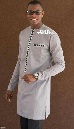 Oumar model African Wear Styles For Men, African Shirts For Men, African Dresses For Kids, African Attire For Men, African Clothing For Men, Nigerian Men Fashion, African Print Fashion, Stylish Men, Men Casual