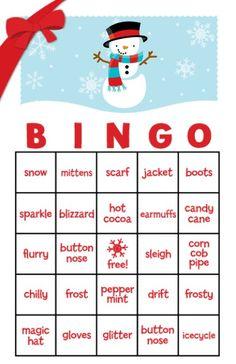 Snowman Family with Snowflakes Free Christmas Bingo Game