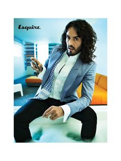 ESQUIRE UK: Russell Brand by Photographer Peggy Sirota - Image Amplified: The Flash and Glam of All Things Pop Culture. From the Runway to the Red Carpet, High Fashion to Music, Movie Stars to Supermodels. Sober Celebrities, Celebs, Beautiful Men, Beautiful People, Esquire Uk, Bae, Russell Brand, Successful Marriage, Katy Perry