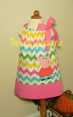 Adorable Peppa Pig Inspired Toddler Girl by TheCraftyMenagerie, $28.50