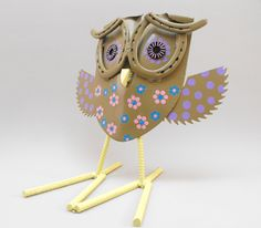 Folk art found object yard art metal owl by OurUniquePerspective, $55.00