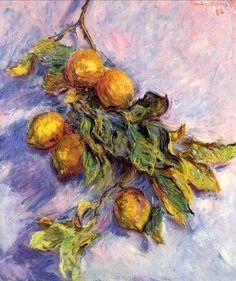 Branch of Lemons, 1884 - Claude Monet