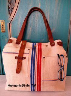06. Grainsack  bag/handmade grainsack handbag/ grainsack shoulder bag/repurposed antique grainsack/limited edition/flax linen bag