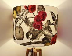 Garden Birds lampshade paired with cross floor lamp!