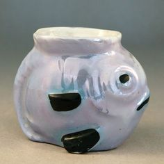 1930s lustre Egg Cup modelled as a fish