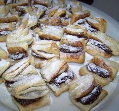 hajtogatott hájas tészta recept stories and pictures at blikkruzs. Hungarian Desserts, Hungarian Recipes, Cookie Desserts, Cookie Recipes, Sweet Recipes, My Recipes, Bread And Pastries, Sweet And Salty, Food 52