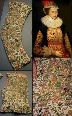 Margaret Layton and her embroidered jacket 1600 by Kotomicreations, via Flickr
