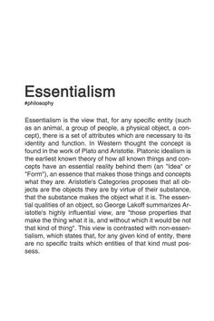 ESSENTIALISM. #philosophy #typography #typographyposter