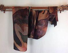 Silk Scarf, Silk Scarves, Hand Painted, Scarves, Brown RUST Scarf, Tan HUNTER GREEN scarf, Silk Satin, Women's Scarves, Rectangle, Original, Silk Painting, Hunter Green, Silk Scarves, Silk Satin, Rust, Hand Painted, The Originals, Trending Outfits, Brown