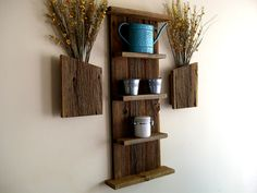 Rustic / Reclaimed / Barn Wood Wall Shelf. $69.99, via Etsy.