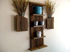 Rustic / Reclaimed / Barn Wood Wall Shelf. $69.99, via Etsy.