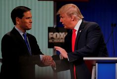 Nonverbal Communication Analysis No. 3458: Marco Rubio and Donald Trump Shake Hands at Debate - Body Language (PHOTOS)  http://www.bodylanguagesuccess.com/2016/02/nonverbal-communication-analysis-no_6.html