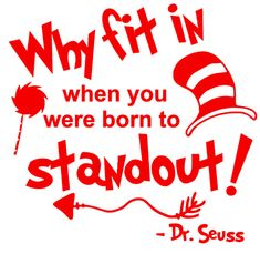 Dr. Seuss Why fit in Quote SVG Back to School