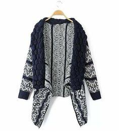2016 Autumn and Winter Cardigan Fashion Women Sweater Women Big Casual Knitting Sweater Women 3 colorXA031