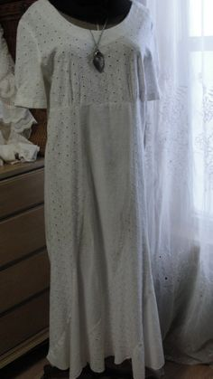 Vintage maxi dress shabby chic hippie bohemian by SummersBreeze, $38.99
