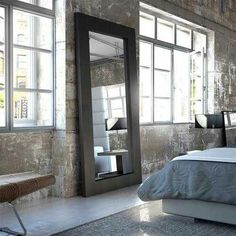 The Norfolk Mirror Stands Over Six Feet Tall, Supported By A Sturdy Frame.  Display It As A Traditional Floor Standing Mirror Or Mount It To The Wall  As A ...