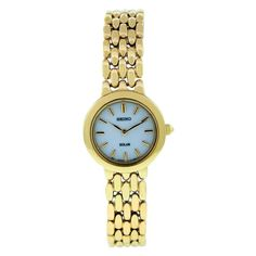 Seiko Women's SUP022 Stainless Steel Analog with White Dial Watch