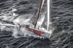 March 19, 2015. Dongfeng Race Team tackles steep and angry seas as they pass East Cape, the eastern-most point of New Zealand - Ainhoa Sanchez / Volvo Ocean Race