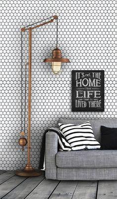honeycomb pattern vinyl wallpaper--image via Pinterest