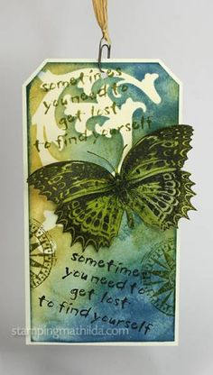 Butterfly tag by Stampingmathilda - Cards and Paper Crafts at Splitcoaststampers
