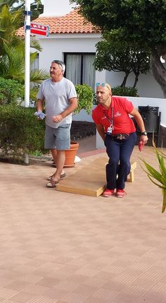 "CLC World review by Alison Taylor: ""Playing Cornhole at Sunningdale Village."""