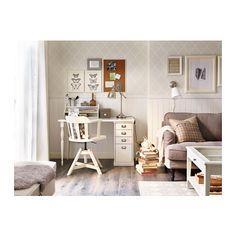 FEODOR Arbetsstol med armstöd - vit - IKEA