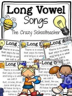 Fun songs to reinforce long vowels sounds!