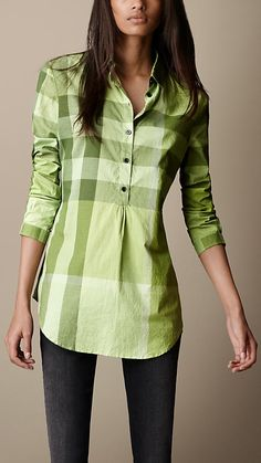 Shop the latest womenswear from Burberry including seasonal trench coats, leather jackets, dresses, denim and skirts. Ladies Shirts Formal, Shirts For Girls, Girls Fashion Clothes, Fashion Outfits, Clothes For Women, Simple Shirts, Cool Shirts, Girls Kurti, Kurti With Jeans