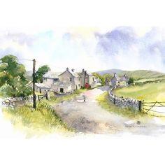 The Village Phone Box by Rachel McNaughton @ Mini Gallery - Watercolour Painting