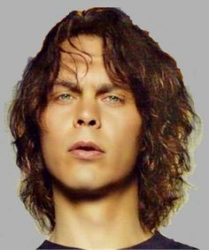 Ville hermanni valo ❤ HIM Ville Valo, Gothic Rock, Him Band, Attractive Men, Rock Music, Singer, Long Hair Styles, Tv, Sweet
