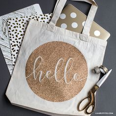 Make this simple DIY iron-on tote by adding a gorgeous printable design to a blank canvas shopper. Simple, elegant, perfect! By Lia Griffith and her team.
