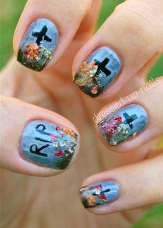 halloween nail art   Tumblr