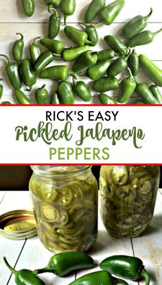 Pickled Jalapeño Peppers Recipe from Rick's Garden to Yours! - Rick's Easy Pickled Jalapeno Peppers – an easy cold pickle recipe that everyone will love. Pickled Jalapeno Recipe, Canning Jalapeno Peppers, Jalapeno Recipes, Pickling Jalapenos, Stuffed Jalapeno Peppers, Tuna Recipes, Appetizer Recipes, Recipies, Appetizers