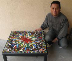 "Hugo's ""Exploding Flower Table"" by piecebypiece, via Flickr"