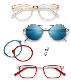 paper-thin_titanium_51 Round Sunglasses, Mirrored Sunglasses, Mens Glasses, Eyewear, Instagram Posts, Paper, Design, Colors, Templates