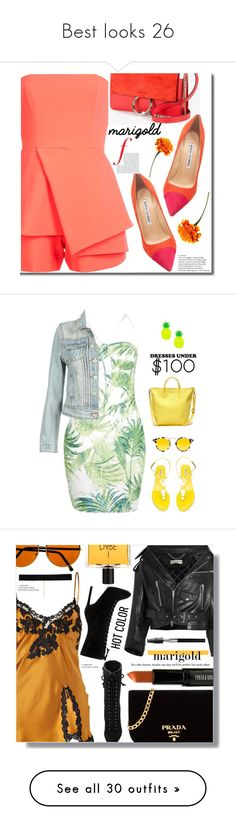 """""""Best looks 26"""" by zeina-amrnasr ❤ liked on Polyvore featuring Jay Godfrey, Manolo Blahnik, Chloé, Boohoo, Tabitha Simmons, Forever 21, Krewe, Lacoste, under100 and Balenciaga"""