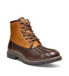 Men's Steve Madden Cornel Duck Boots Brown Tims Boots, Mens Shoes Boots, Timberland Boots, Men's Shoes, Shoe Boots, Men Accesories, Accessories, How To Look Handsome, Duck Boots