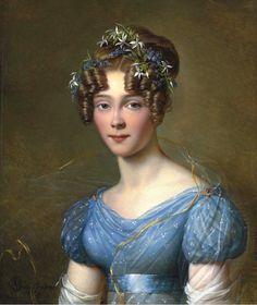 1821 Alexandre-Jean Dubois-Drahonet - Portrait of Amélie du Bois, wife of Lt.-Gen. Emile Joseph Frison, aide to King Leopold II