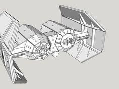 Dies ist ein remix des TIE Fighter und TIE Advanced von den kollegen aus Thingiverse. Das Modell ist für den Lasercutter gedacht und wird aus 3mm HDF/MDF geschnitten. Modell wurde noch nicht geschnitten und gebaut. Alles nur in Sketchup vormontiert. In CorelDraw zum schneiden bearbeitet und in .cdr und .svg zusammengestellt. Viel spass beim ausprobieren