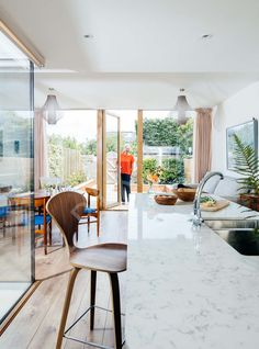 Extension with internal courtyard to a terraced house | Interior, Architectural & Advertising Photographer with a library of house features for publishers Interior Photography, Image Photography, Internal Courtyard, Advertising Photographer, Terraced House, Extensions, Windows, Patio, Architecture
