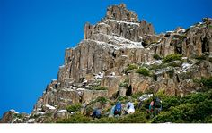 The craggy summit of Tasmania's highest and most formidable peak, Mt Ossa (1617m), has a 360-degree view of Tasmania's north-west, with visibility of nearly 30km on a clear day. #mtossa #wilderness #tasmania