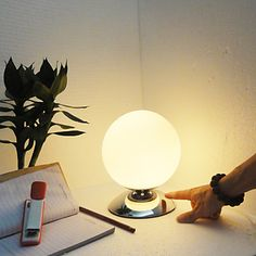 White Globe Shade Modern Table Lamps –LightSuperDeal.com